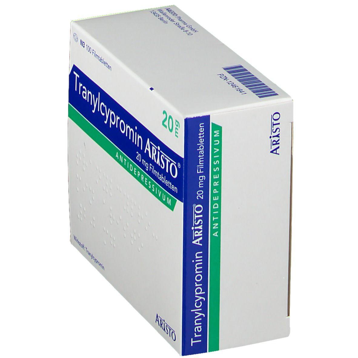 TRANYLCYPROMIN Aristo 20 mg Filmtabletten