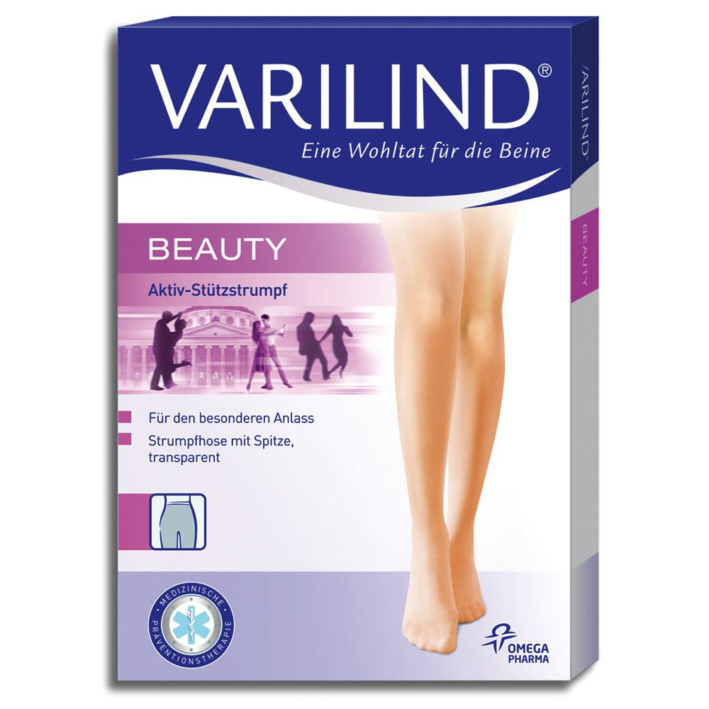 VARILIND® Beauty Kniestrümpfe 100 DEN muschel Gr. S (37,5-40)