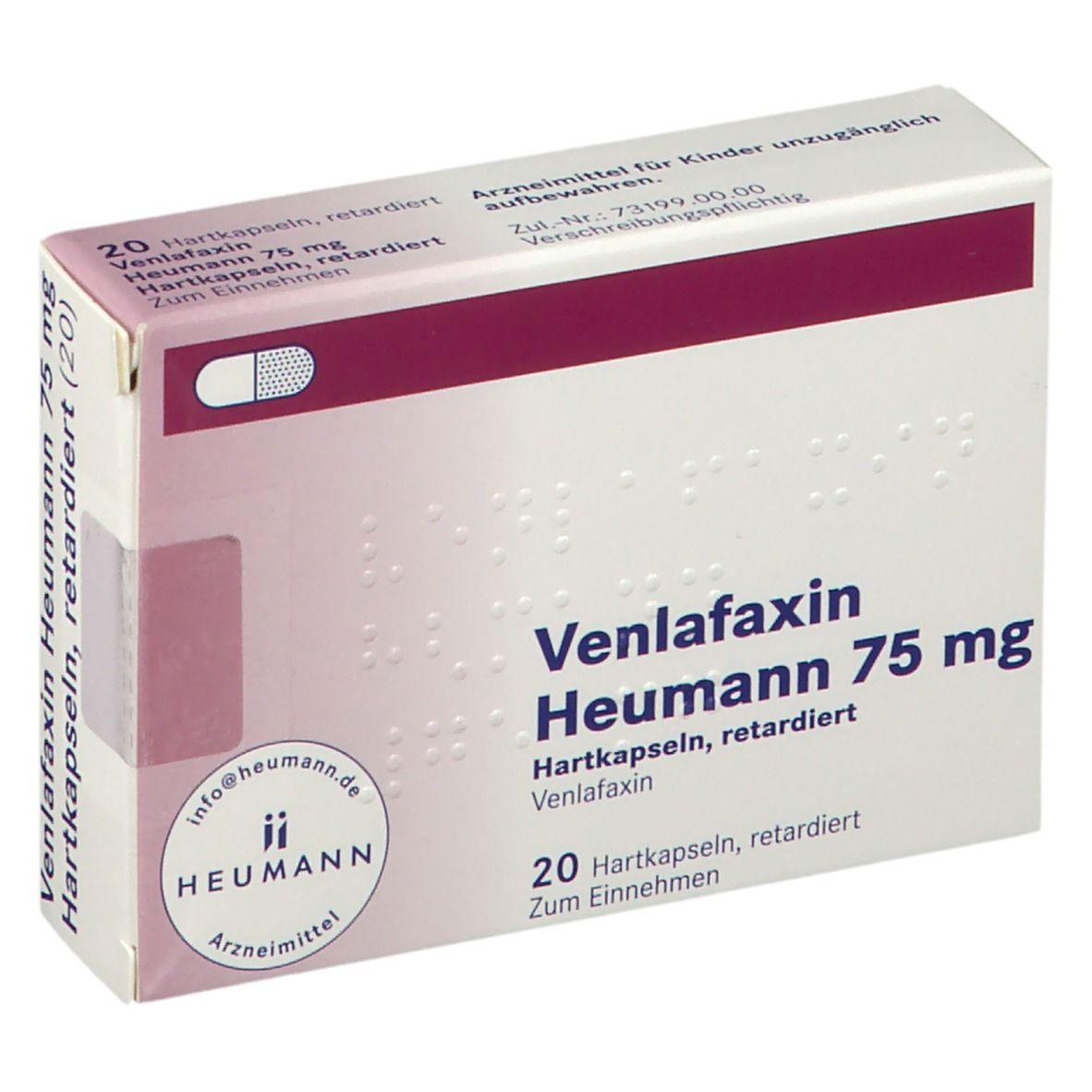 Venlafaxin Heumann 20 mg Hartkapseln, retardiert 20 St   shop ...