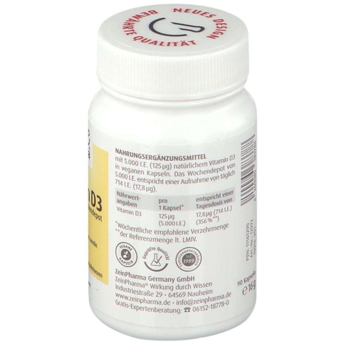 aus natürlichem Lanolin, Vitamin D3 Depot 250 Softgel-Kapseln á 5000 I.E