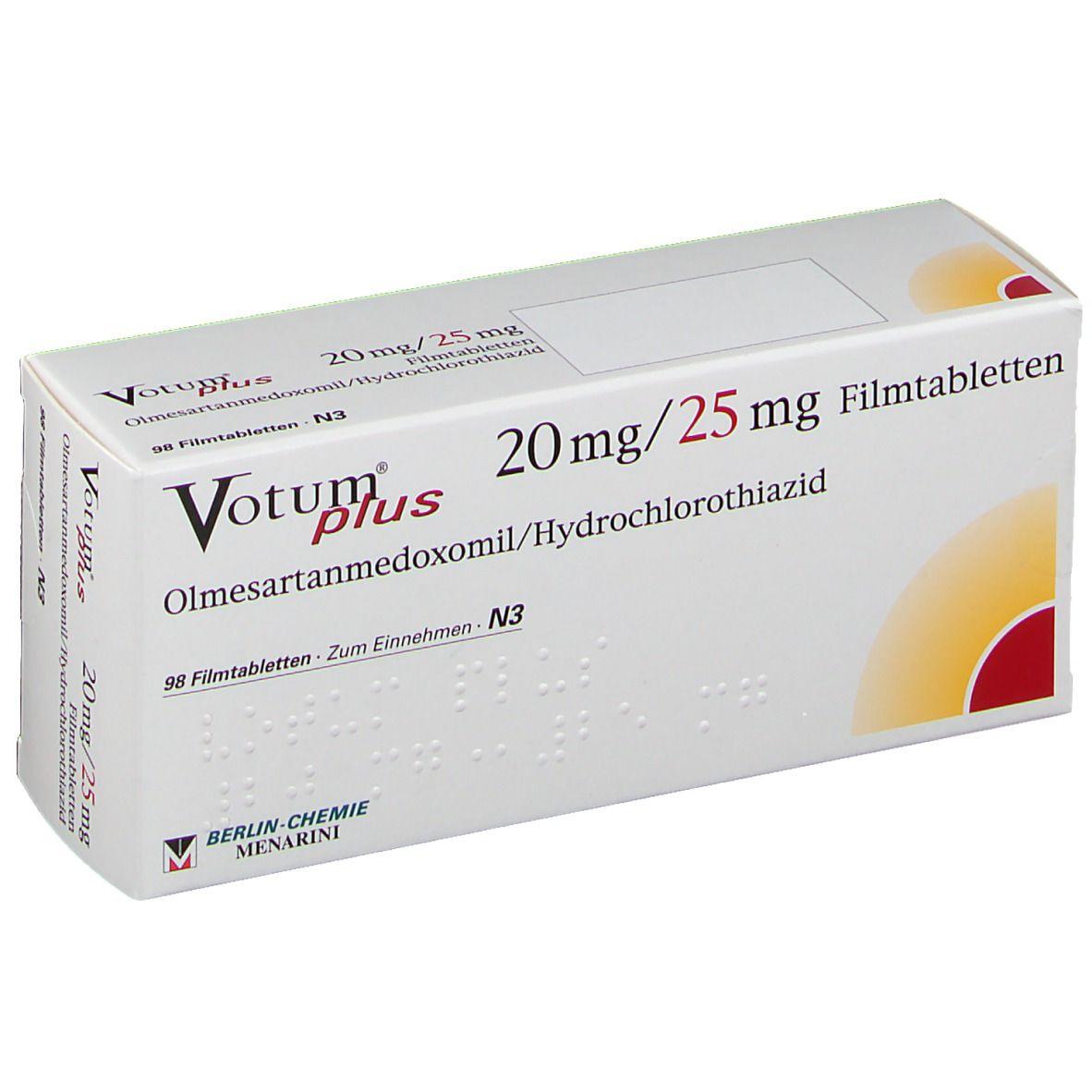 Votum Plus 20 mg/25 mg Filmtabletten