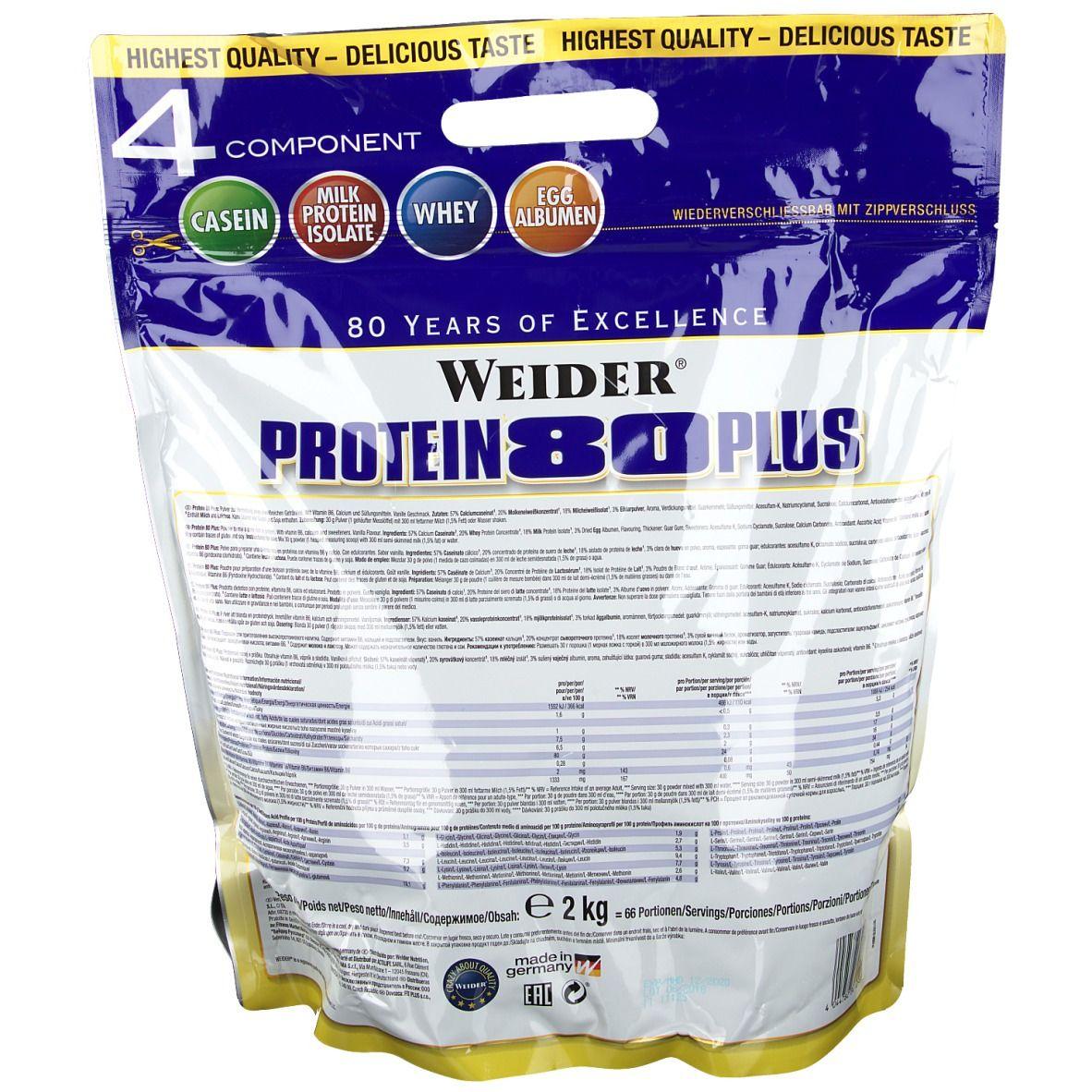 Weider Protein 80 Plus, Vanille, Pulver